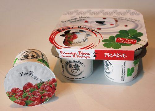 Fromages blancs fraises Saint-Rieulait