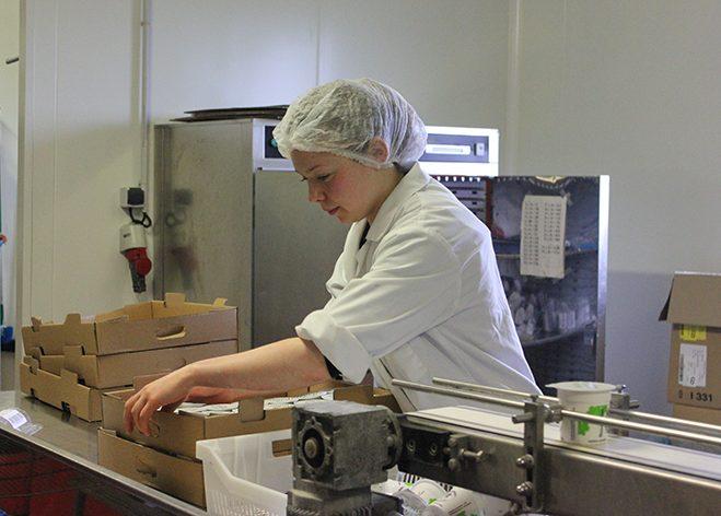 Conditionnement des Fromages blancs Saint-Rieulait